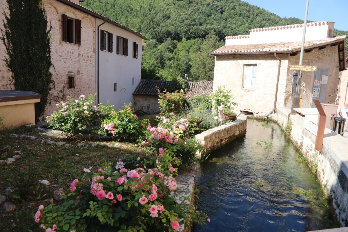 Rasiglia frazione montana vicino Foligno in Umbria